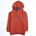 Boys Hooded Shirt - Brown