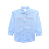 Boys Small Check Shirt - Blue