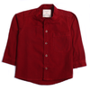 Boys Plain Casual Shirt - Maroon