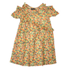 Girls Floral Fusion Top - Orange