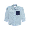 Boys Check Shirt - Green & Blue