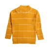 Girls Striped Sweater - Brown