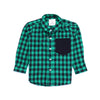 Boys Small Check Shirt - Green