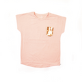 Girls Fashion Tees - Peach