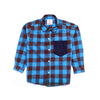 Boys Midscale Check Shirt - Blue