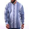 Men's Striped Shirt - Grey