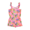 Girls Printed Romper - Pink