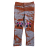 Girls Embroidered Jegging - Brown