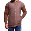 Men's Button Down Jacket - Brown