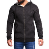Men's Hoodie Zipper - Black