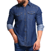 Men's Denim Shirt - Blue