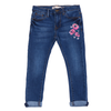 Girls Printed Denim Pant - Blue