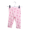 Girls Printed Capri - Pink