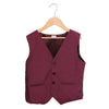 Boys Printed Waist Coat - Maroon