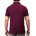 Men's Front Pocket Polo - Maroon