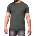 Men's R-Neck Plain Tees - Dark Green