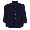 Boys Plain Collar Shirt - Navy Blue