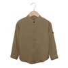 Boys Plain Casual Shirt - Beige