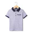 Stripe Polo - White