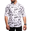 Men's Printed Shirt - White