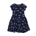 Graphic Frock - Dark Blue