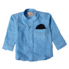 Boys Pocket Casual Shirt - Blue