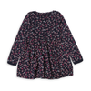Girls Floral Frock - Dark Blue