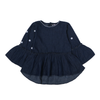 Girls Denim Frock - Dark Blue