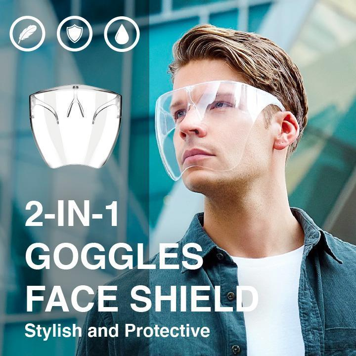 2-in-1 Goggles Face Shield Beauty WingDummy
