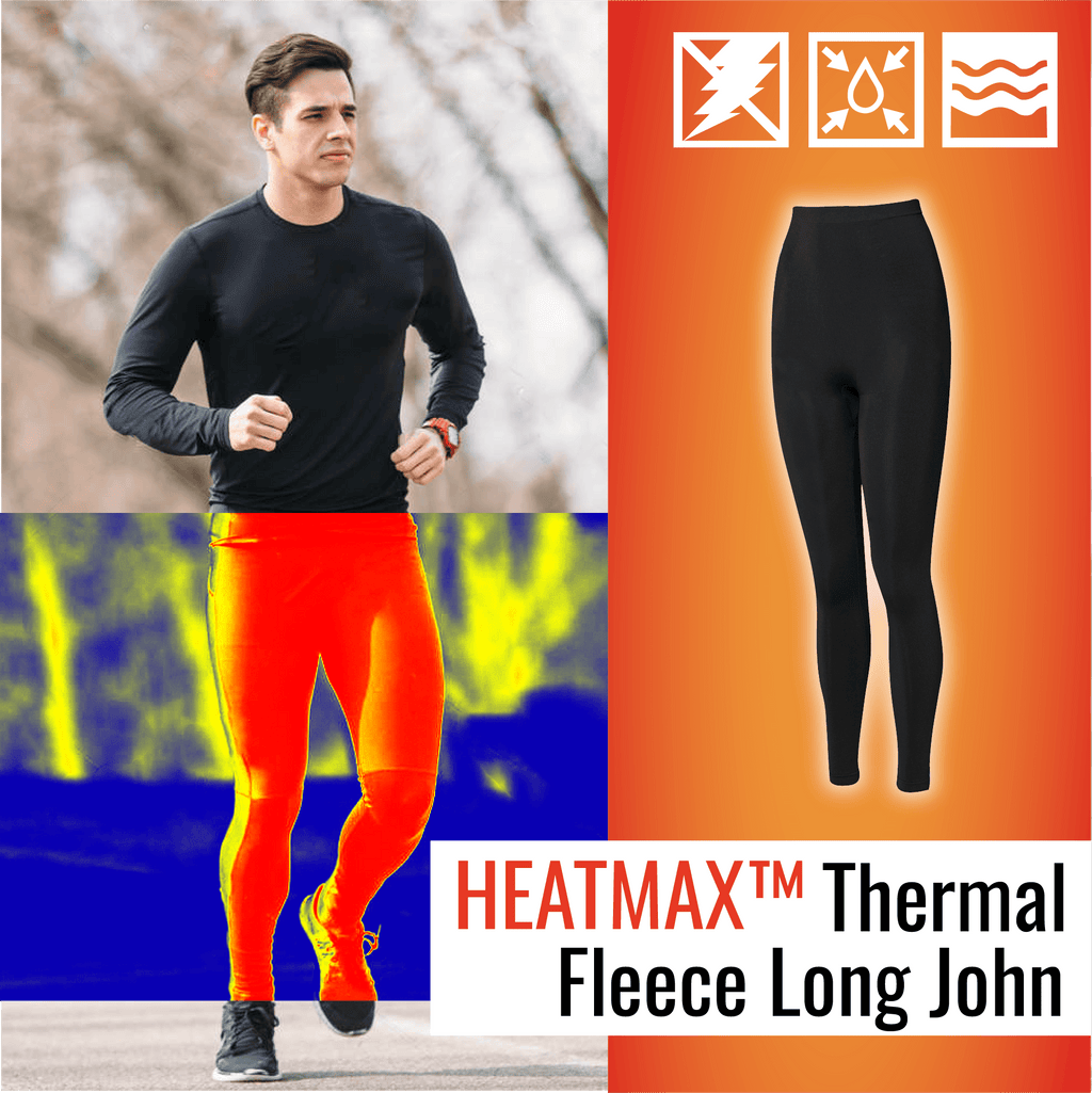 HeatMax™ Men's Thermal Fleece Long John Beauty ChestnutFive