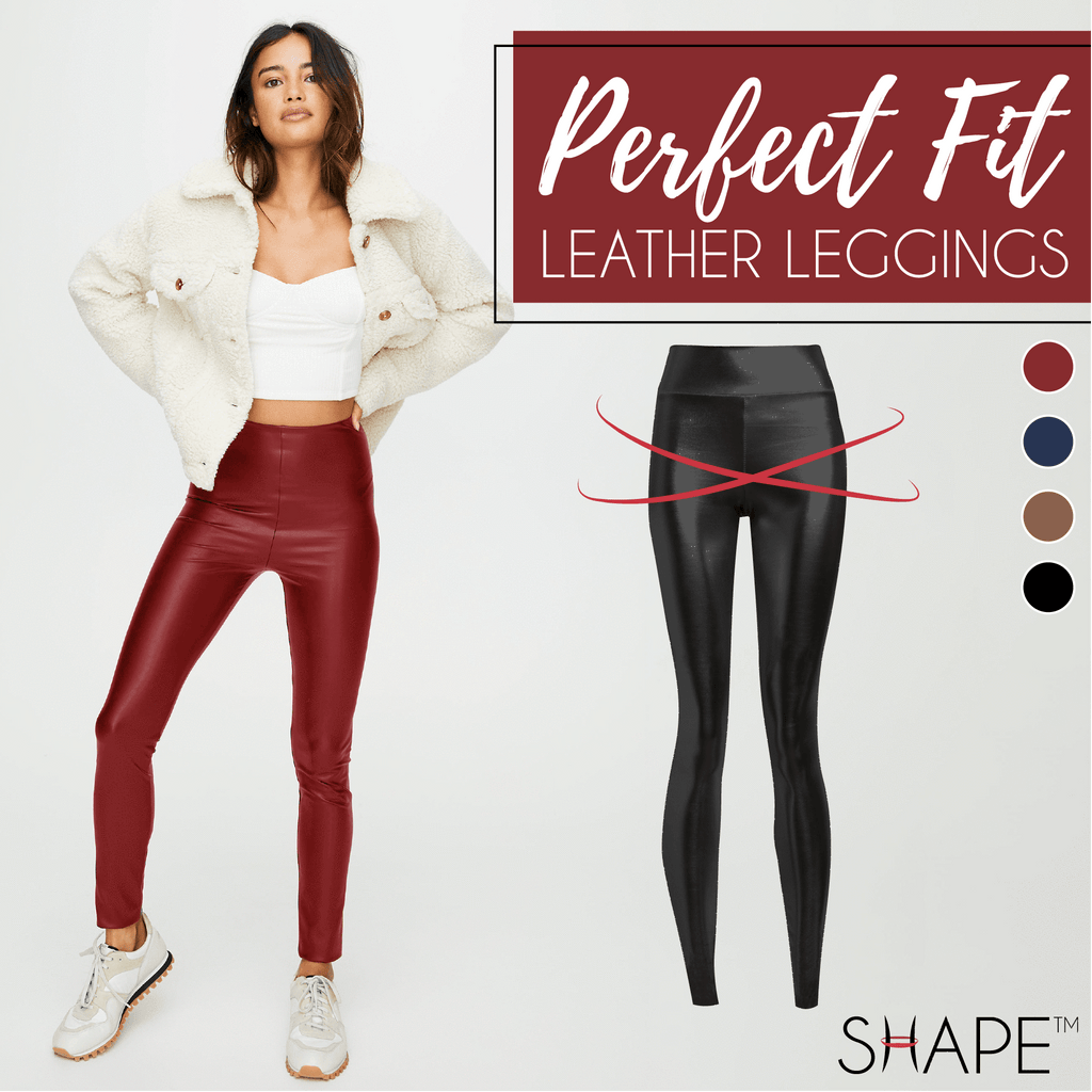 Perfect Fit Leather Leggings Beauty ChestnutFive Wine Red XS