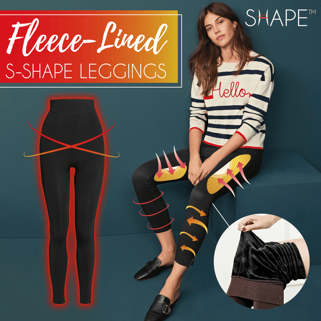 Ultra Fleece-Lined S-Shape Leggings Beauty vickypick