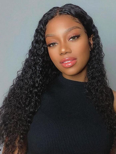 Doubleleafwig One Wig Two Styles 4*4 Lace Closure Wig Curly Straight Hair DW83