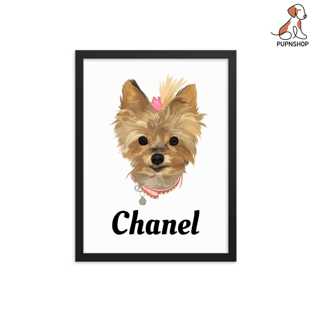 Designed by Primrose: Custom Pet Poster - Pup n Shop