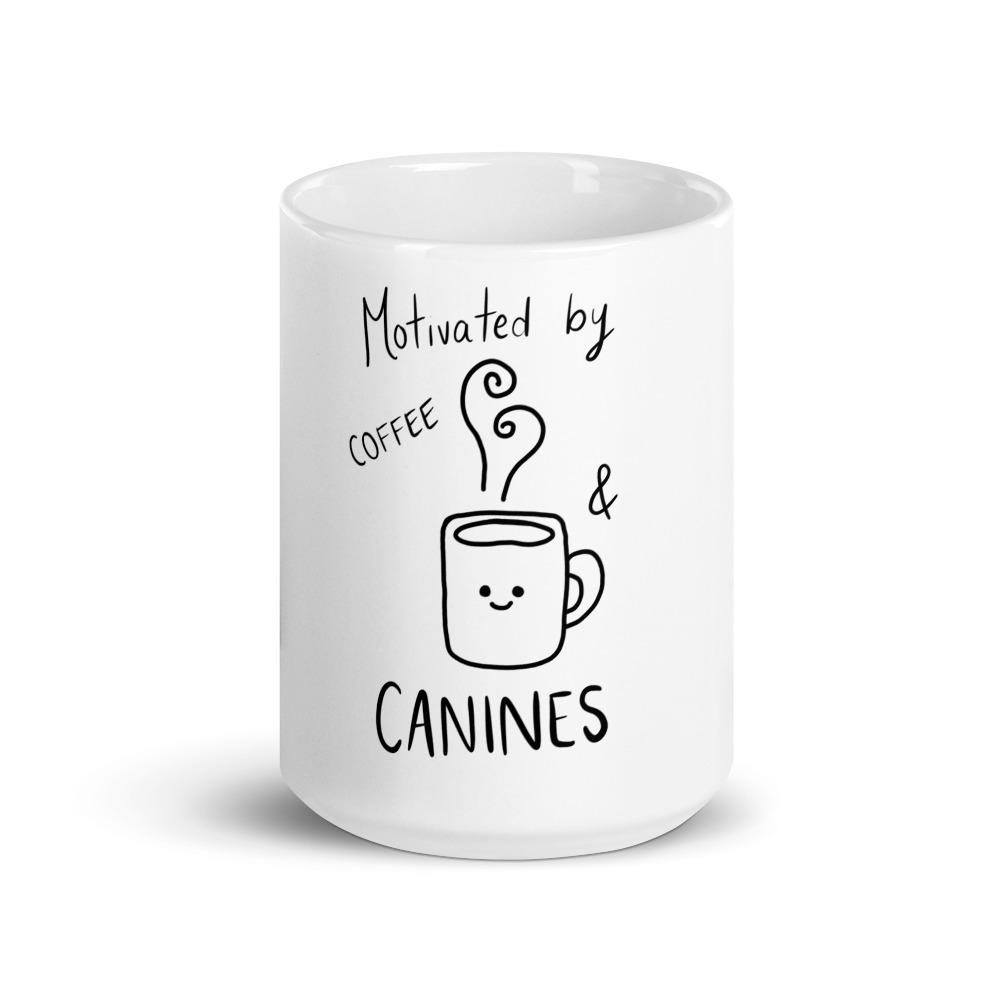 Motivated by Coffee and Canines Mug - Pup n Shop