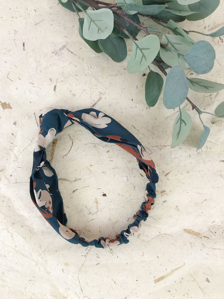 Rena Knotted Headband in Smokey