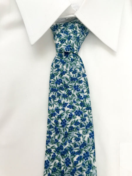 Blueberry Cotton Necktie
