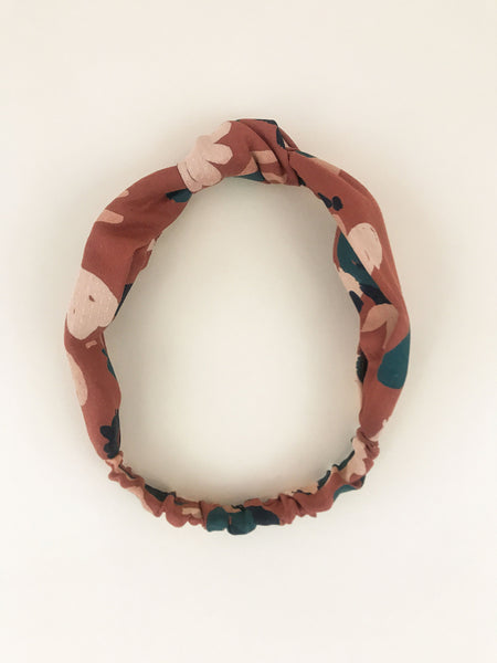 Rena Knotted Headband in Chestnut