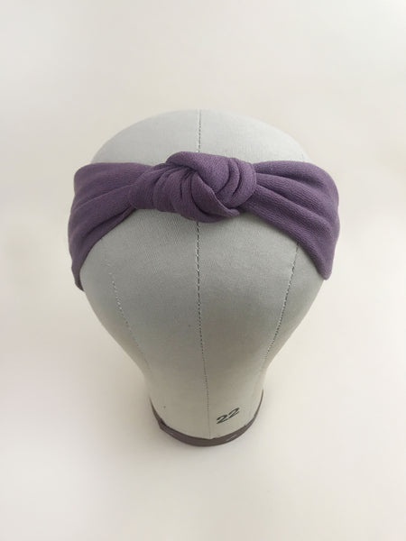 Edna Knotted Headband in Mauve