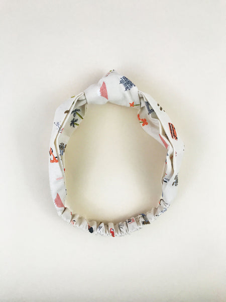 Lelise Knotted Headband in Cream