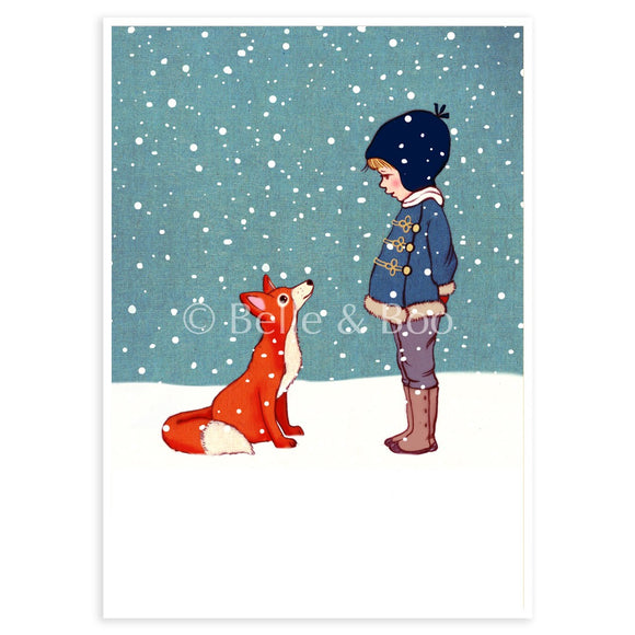 Winter Fox Postcard