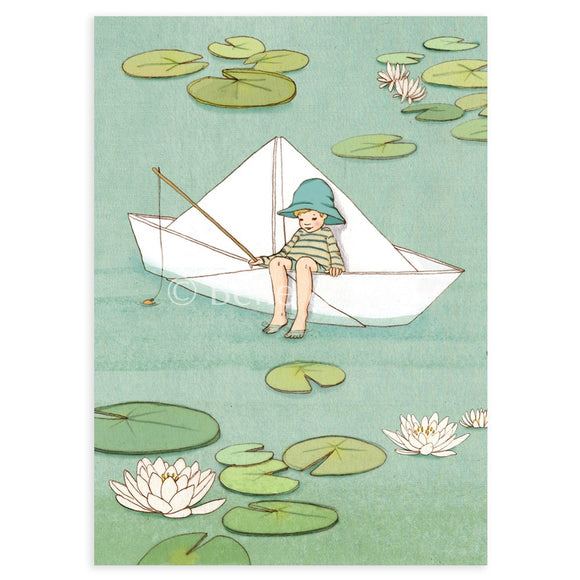My Paper Boat  Postcard