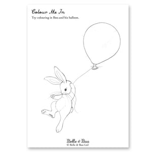 Boo & The Balloon Colouring In Sheet