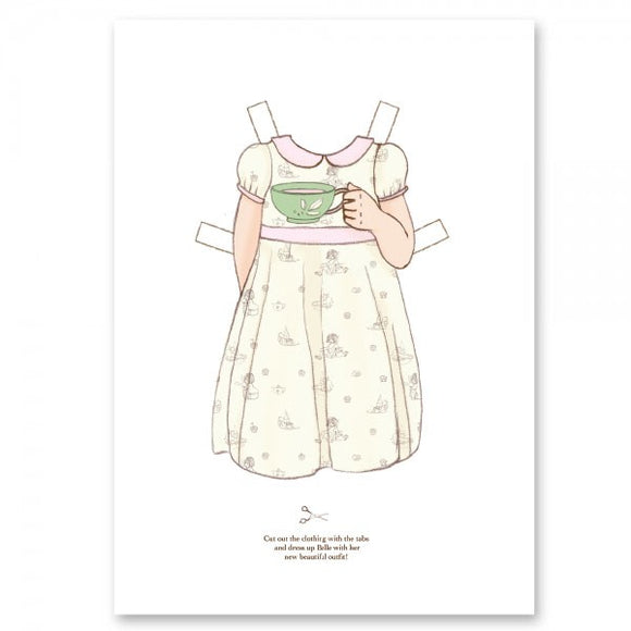 Large Dress Up Belle Outfit - Tea Dress