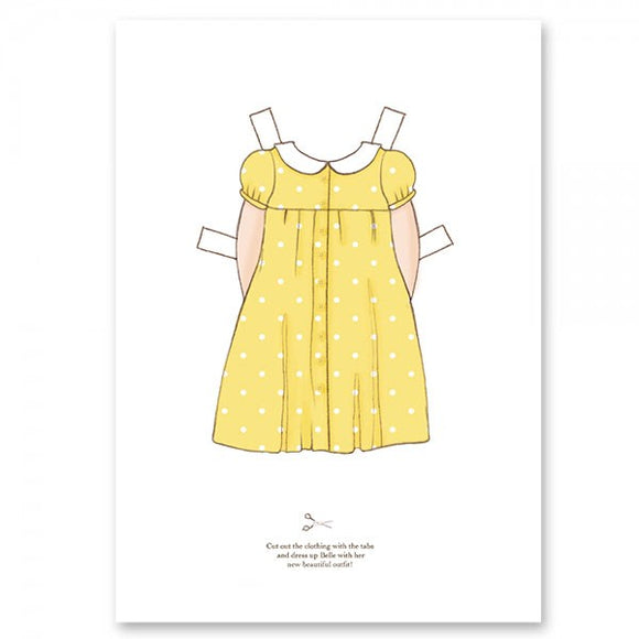 Large Dress Up Belle Outfit - Polka Dress