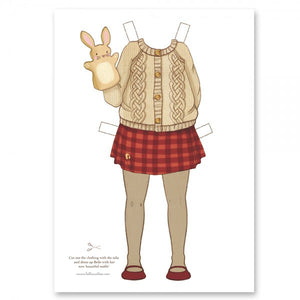 Large Dress Up Belle Outfit - Knitted Outfit