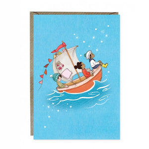 Sail Boat Dreams Card