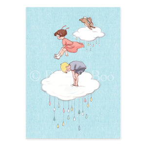 Cloud Jumping Postcard