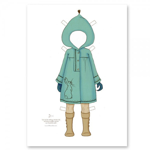 Large Dress Up Belle Outfit - Blue Snow Coat