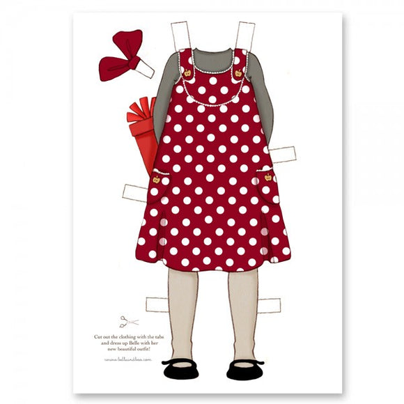 Large Dress Up Belle Outfit - Polka Dress & Present